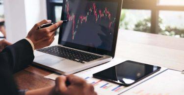 marché financier dans le cadre d'une bourse